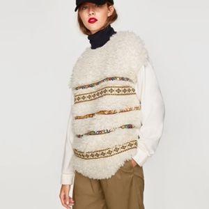 Zara Sweater Shirt Top Women size M